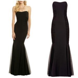 Badgley Mischka Black Strapless Curves Gown Size 4